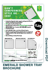 Emerald Shower Tray Brochure