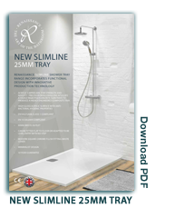 Slimline 25mm Shower Tray Leaflet