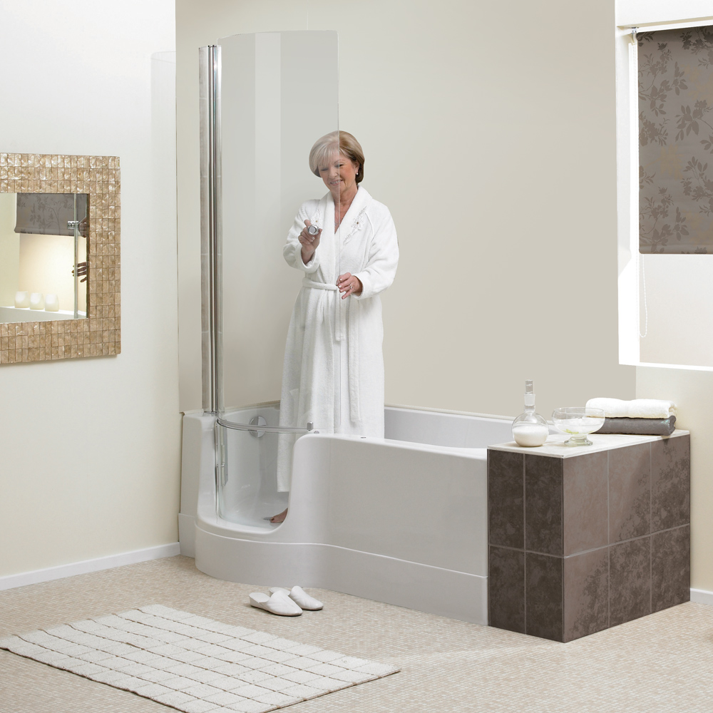 framless glass doors on your bath tub can be designed and